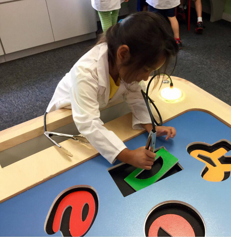 Preschoolers make play time scientific in new STEM LAB